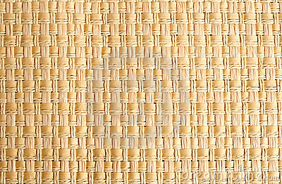 Woven straw placemat as background