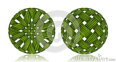 Woven Wicker ball
