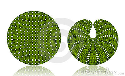 Woven Wicker ball