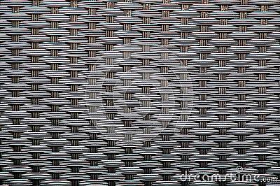 Woven wicker optical illusion