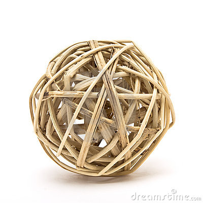 Free Woven Wood Ball Royalty Free Stock Image - 14067986