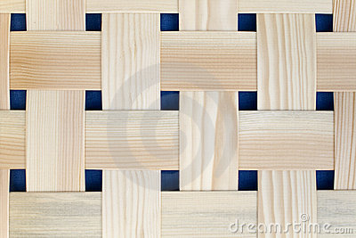 Woven Wood Strips with Dark Spaces