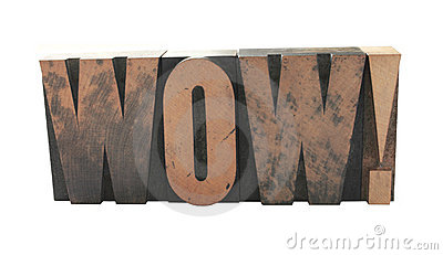 wow  in old wood type