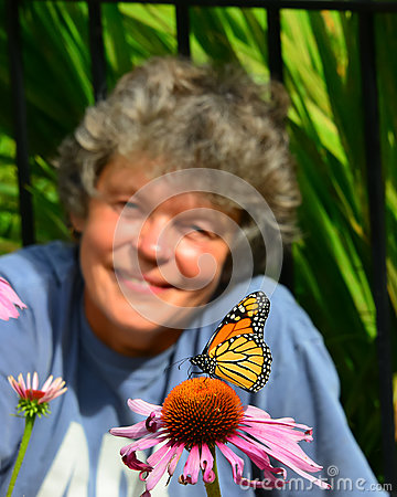 Free WOW Watching Monarch Butterfly Stock Photo - 83203560