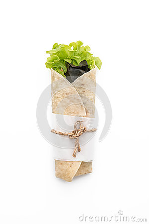 Free Wrap Salad Roll Stock Image - 93274881