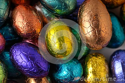Wrapped easter-eggs