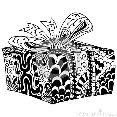 Free Wrapped Gift In Box Royalty Free Stock Images - 56363739