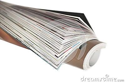 Wrapped magazine