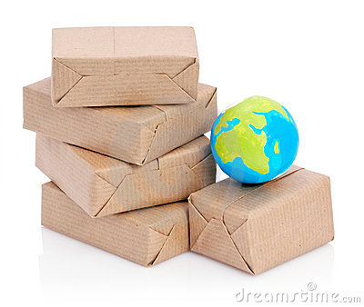 Wrapped packages and globe