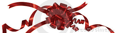 Wrapped Red Ribbon