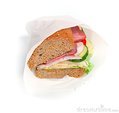 Free Wrapped Sandwich Royalty Free Stock Photo - 7624395