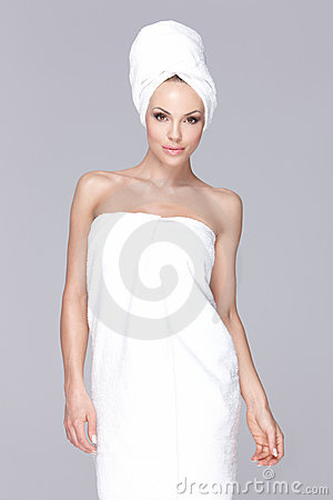 Wrapped in towel