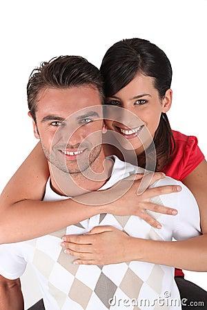 Wrapping arms around boyfriend