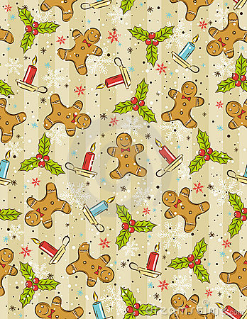 Wrapping paper with christmas elements,