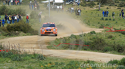 WRC 2008 - Rally d Italia - Sardegna Editorial Photo