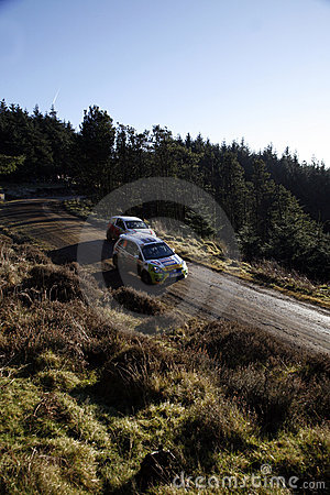 WRC 2008 Wales Rally GB Editorial Stock Image
