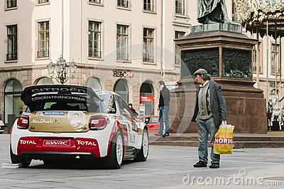 WRC Championship preparation in Strasbourg Editorial Stock Photo