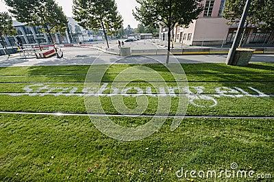 WRC Championship preparation in Strasbourg Editorial Stock Image