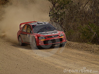 WRC CORONA RALLY MEXICO 2005 Editorial Stock Image