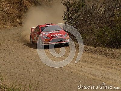 WRC CORONA RALLY MEXICO 2005 Editorial Photo