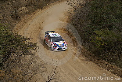 WRC CORONA RALLY MEXICO 2007 Editorial Stock Photo