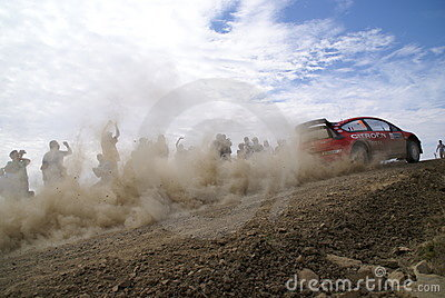 WRC CORONA RALLY MEXICO 2007 Editorial Stock Image