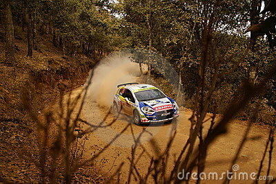 WRC Corona Rally Mexico 2010 Albert LLOVERA Editorial Photography