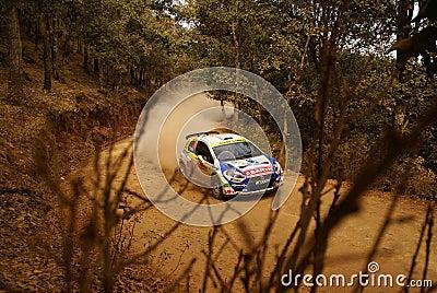 WRC Corona Rally Mexico 2010 Albert LLOVERA Editorial Photography