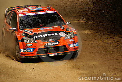 WRC Corona Rally Mexico 2010 Henning Solberg Editorial Stock Image