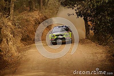 WRC Corona Rally Mexico 2010 LATVALA Editorial Stock Photo