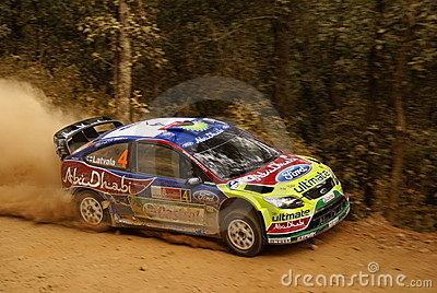 WRC Corona Rally Mexico 2010 LATVALA Editorial Stock Photo