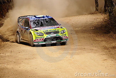 WRC Corona Rally Mexico 2010 Mikko Hirvonen Editorial Photography