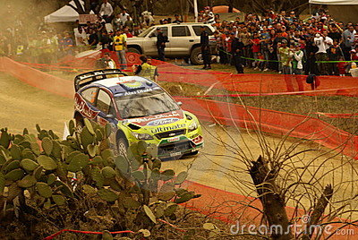WRC Corona Rally Mexico 2010 Mikko Hirvonen Editorial Stock Image