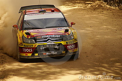 WRC Corona Rally Mexico 2010 Peter Solberg Editorial Stock Photo