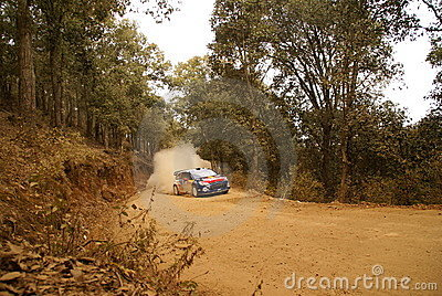 WRC Corona Rally Mexico 2010 Sébastien OGIER Editorial Stock Image