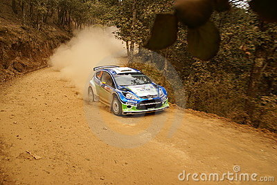 WRC Corona Rally Mexico 2010 Xavier PONS Editorial Stock Image