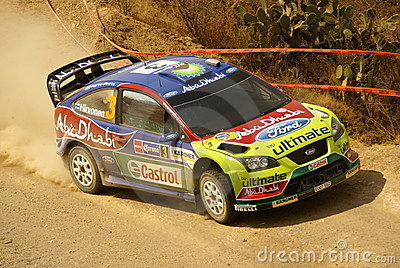 WRC Corona Rally Mexico Editorial Stock Image