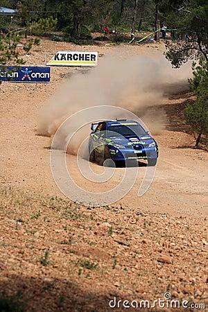 WRC Rally Acropolis Editorial Image