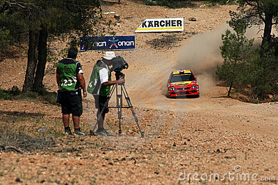 WRC Rally Acropolis Editorial Photo