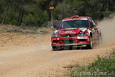 WRC Rally Acropolis Editorial Stock Photo