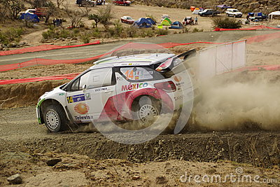 WRC Rally Guanajuato Mexico 2013 Editorial Photo