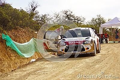 WRC samlar Guanajuato Mexico 2013 Redaktionell Arkivbild