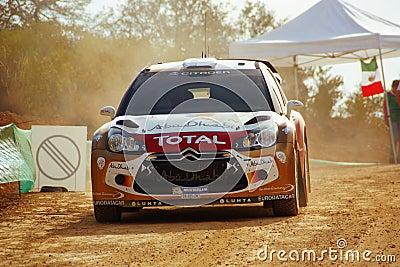 WRC-kran samlar Mexico Mikko 2010 Hirvonen Redaktionell Bild