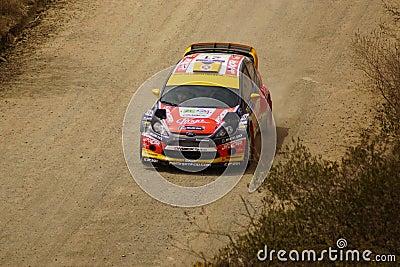 WRC Zlotny Guanajuato Meksyk 2013 Obraz Editorial