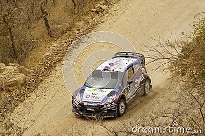 WRC Zlotny Guanajuato Meksyk 2013 Zdjęcie Editorial