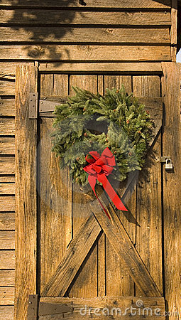 Wreath on Barn Door