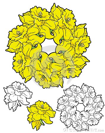 Wreath Of Daffodils