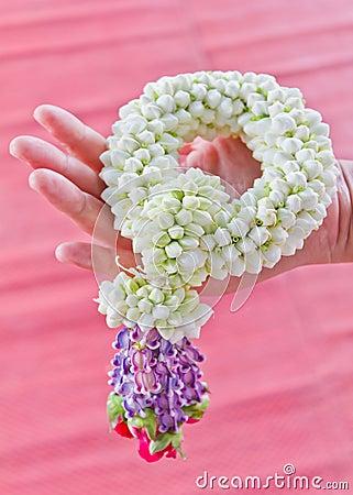Wreath of fresh flowers