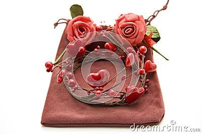 Wreath from heart