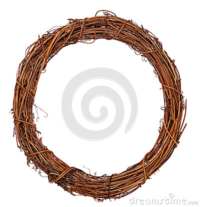 Free Wreath Of Vine Royalty Free Stock Photography - 66895127